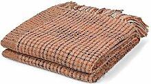 Plaid Vivan 130x180 cm hell rosa - Tagesdecke Sofa