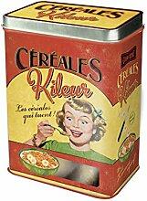 Plaisirs de France 211138 Französische Retro Blechdose Cornflakesdose Müslidose