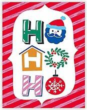 Plakat Weihnachten Minimalismus Kawaii Schneemann