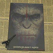 Plakat-Weinlese-Gorilla Gegen Caesar Craft Paper
