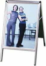 Plakatständer Star Impuls 50x70cm, alu/silber,