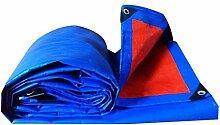 Plane-Regen-Tuch-wasserdichter Plane-Sonnenschutz Dreirad-Sonnenschutz-Plane-Markise Bupei-Stoff, Blau + Orange, Stärke 0.3mm, 160g / m2, 15 Größen-Wahlen, Anmerkung: Kaufen Sie nur auf einmal 2 * 2 Cm ( größe : 6*6 )