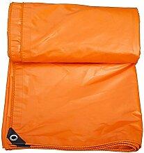 Planen DUO Orange Freien wasserdichte Tuch-Sonnenschutz verdicken Auto-LKW-Größe kann besonders angefertigt werden (Farbe : Orange, größe : 6 x 8m)