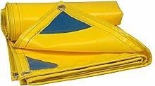 Planen DUO PVC-Regen-Tuch-wasserdichter Sonnenschutz-starke Abnutzungs-LKW-Schatten Segeltuch 4 Farben (Farbe : Gelb, größe : 3mx5m)