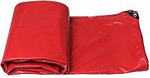 Planen DUO sonnenschutz tuch wasserdichte isolierung sonnenschutz außen leinwand dicker regen tuch wasserdicht tuch Farbe : Rot, größe : 6*4m (actual 5.8*3.85m)