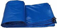 Planen DUO sonnenschutz tuch wasserdichte isolierung sonnenschutz außen leinwand dicker regen tuch wasserdicht tuch Farbe : Blau, größe : 8*5m (actual 7.8*4.8m)