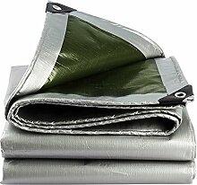 Planen DUO Tarnung im Freien Visier Wasserdichtes Tuch wasserdicht Sonnenschutz LKW Öl Leinwand Shelter Tuch Wärmedämmung 0,35 mm-180 g/m² (Farbe : Silber, größe : 6x7m)