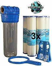 "SEDIMENTFILTER 10/"" 5µ Wasserfilter Brunnen Pumpe AUSWASCHBAR Filter Wasser"