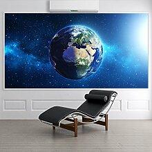 Planet Erde Wandbild Platz Foto-Tapete Kinderzimmer Büroschule Dekor Erhältlich in 8 Größen Riesig Digital