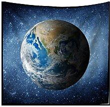 Planet Erde Wandteppiche Weltraum Universum Sterne