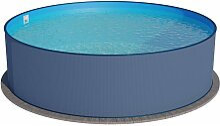 Planet Pool - Rundbecken 400x120cm Anthrazit