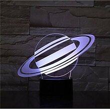 Planet Tischlampe 3D Illusion Touch Sensor 7