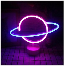 Planetary Neon und Sockel LED Schreibtischlampe