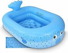 Planschbecken,140cm aufblasbarer Pool für Kinder