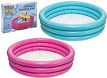 Planschbecken für Kinder mit 3 Ringen,