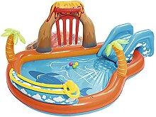 Planschbecken mit Rutsche, aufblasbares Schwimmbad