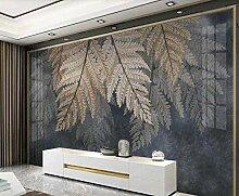 Plant Leaf Art Vlies Tapete 3D Wallpaper