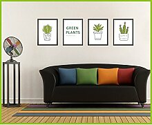 Plant Simulation können Topfpflanzen rahmen Aufkleber sofa Hintergrund wand Schlafzimmer Kopfteil Living Wall Dekoration Aufkleber entfernen