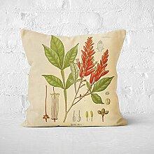 Plant vein Cushion Cover Pillow Case 45X45cm Linen Cotton Pillow Covers Bedroom Sofa Decoration