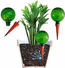 PLANTAL Pflanzen Bewässerungskugeln (3 blau, 3 grün SET), Bewässerungssystem für dosierte Langzeitbewässerung, Kugelförmiges Hydro Kugel XXL Design, automatische Bewässerung für 2 Wochen, wirkungsvoller Wasserspender
