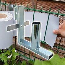 Plantiflex Sichtschutz Rolle 35m blickdicht PVC Zaunfolie Sichtschutzfolie Windschutz für Doppelstabmatten Zaun Sichtschutzrolle (Abrollhilfe)