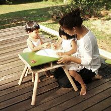 Plantoys Kindertisch mit Stuhl aus Holz im Set in