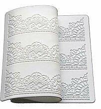 Plaque en silicone blanc motif dentelle
