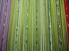 Plasitc Kette Perlen Vorhang Fenster Türpassage Teiler Partydekor Grün