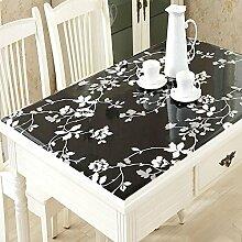 Plastik, einfaches Wischen Sie sauberes PVC-Rechteck-Tischdecke für Familien-Speisetisch, 4 Farben vorhanden, 60 * 120cm , D , 70*140cm