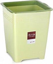 Plastik Mülleimer Abfalleimer, mit Druckring für Haushalt Küche Wohnzimmer Bad / Groß ( Kapazität : Große , Farbe : Grün )