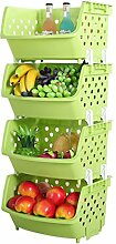 Plastik Obst Gemüse Verdickte Rack Regal