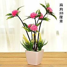 Plastikblumentisch künstliche Blumendekoration