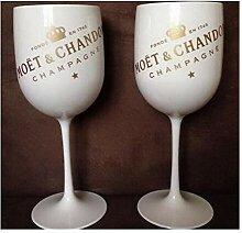 Plastikwein PARTY weiß Champagner-Glas MOET Wein