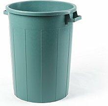 Plastime Mülleimer ohne Deckel, grün, 120 Litre