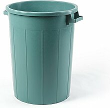 Plastime Mülleimer ohne Deckel, grün, 65 Liter