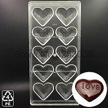 Plat Firm 3D Schokoladenformen Polycarbonat Herz