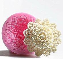 Plat Firm Pinkie 3D Rose handgemachte Seife