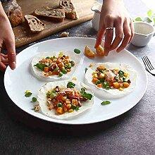 Plate Home einfachen weißen Glas Besteck Teller