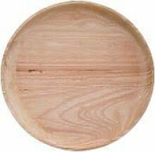 Plate, Nature, Rubberwood D30cm , Holzteller
