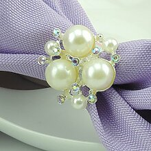 Plating Gold und Silber Strass Perle Clover