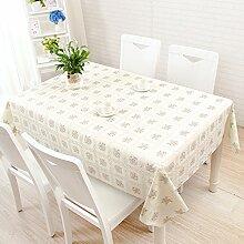 Platz Plaid pink Tischdecke, ländliche Frische kleine, einfache Tabelle Matte, Tischdecke, PVC-Kunststoff Spitze wasserdicht, anti-Brett, BegoniaCurry, 137 * 200 cm
