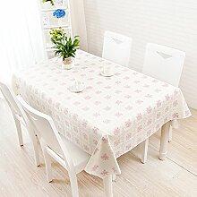 Platz Plaid pink Tischdecke, ländliche Frische kleine, einfache Tabelle Matte, Tischdecke, PVC-Kunststoff Spitze wasserdicht, anti-Brett, Crabapple Pulver, 80 * 137 cm