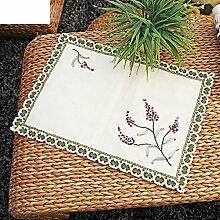 Platzdeckchen Baumwolle Isolierung Pads Von Hand Tisch Untersetzer Matt Quadrat Untersetzer-C 30x45cm(12x18inch)