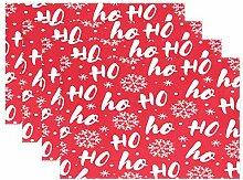 Platzdeckchen mit Weihnachtsbaum, glitzernd,