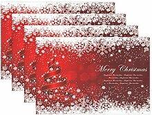 Platzdeckchen mit Weihnachtsbaum, Sterne,