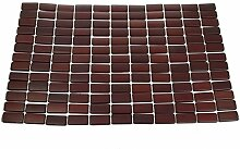 Platzmatte Bamboo - Platzsets - Tischsets - Holzmatte - Bambusmatte - Tischdekoration - dunkelbraun - 30x47cm - 2 Stück - 41587