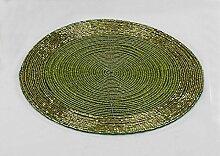 Platzset, 4-teiliges Set, 20 cm, Perlen grün