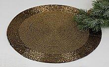Platzset rund, 2-teiliges Set, 30 cm, gold