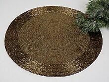 Platzset rund, 2-teiliges Set, 35 cm, gold