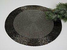 Platzset rund, 2-teiliges Set, 35 cm,